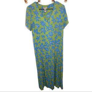 Sigrid Olsen Sport floral button down maxi dress